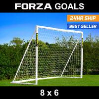 FORZA Football Goal | 8ft x 6ft | PVC Goal For Juniors | Locking Goal | Goal Net