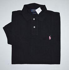 NWT Men's Ralph Lauren Short-Sleeve Polo Shirt, Black, Custom Fit, L, Large