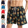 Men's Swim Trunks Quick Dry Summer Surfing Beach Board Shorts with Mesh Lining