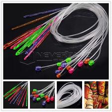 12 Sizes Flexible Plastic Afghan Tunisian Crochet Hooks Weave Set Knit Needles