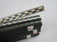 20STRIPS LUTHIER FIGURED BINDING XL-67,Measures 6mm x1.2mm thick and 640mm long