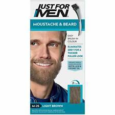Teinture Moustache Barbe Chatain Clair Elimine Poils Gris Epaississant Durable