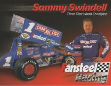 2001 Sammy Swindell Fansteel Racing World Of Outlaws WOO Sprint Car postcard