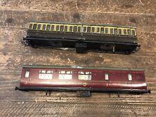 ⭐️⭐️⭐️ Vintage Hornby O Gauge No2 Passenger Coach Lot ⭐️⭐️⭐️⭐️