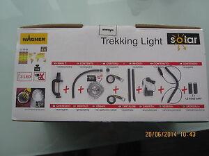 Premium LED Solar Light 12V / 220 V Trekking  Arbeits Lampe viel Zubehör WAGNER