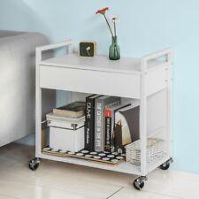 SoBuy® Beistellwagen Rollwagen mit Schublade, Küchenwagen Servierwagen,FKW50-W