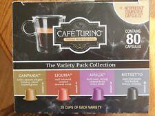 Cafe Turino Italian Style Espresso/Nespresso Coffee Capsules - 80 Pack