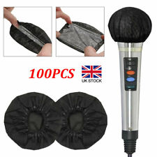 More details for 100pcs disposable non-woven microphone headset windscreen ktv supply cover hats