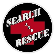 """Search and Rescue Red Cross Very Small 2"""" Round Reflective Decal Sticker"""