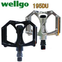Wellgo M195 Road MTB Mountain Bike Bicycle Pedal DU Bearing Flat-Platform Pedals