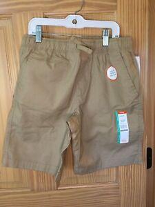 New Wonder Nation Boy Pull on Shorts Tan woven School Uniform Approved