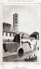 Roma: Cloaca Massima,Tempio di Vesta,Santa Maria in Cosmedin.+ Passepartout.1850