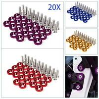 20PCS M6x20 Anodized Aluminum Fender Washers&Bolts Engines Auto Accessories Tool