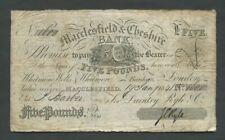 More details for england macclesfield & cheshire bank £5 1841 ryle english provincial banknotes