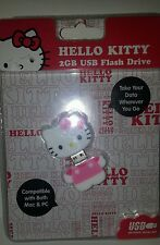 Sanrio Hello Kitty 2GB USB Flash Drive Pink & White Key Chain