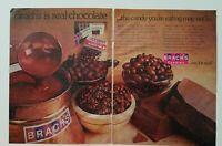 1974 Brachs chocolate peanuts Stars Bridge mix candy 2 page vintage ad