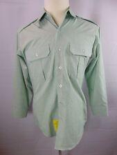 DSCP Garrison Men's 15 1/2 x 30/31 Dress Green Button Front LS Shirt Military