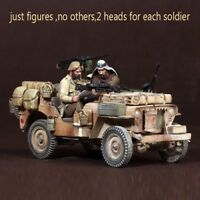 1/35 Resin SAS. Jeep Crew North Africa unpainted unassembled BL281