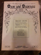 1932 MUSIC & MUSICIANS MAGAZINE BERND HUPPERTZ HARRY KRINKE CORNISH SCHOOL 00081