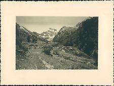 France, le Mont-Viso, Vallée du haut Guil, Vue prise du Grand Bélvédère  Vintage