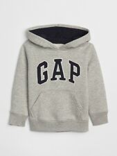NWT Toddler Boys size 5T Gap Logo hoodie pullover Gray