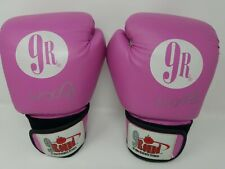 Pink and White 9 Round 30min.14oz Kickboxing Gloves excellent condition