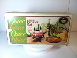 Vintage Oster Electric Fondue Pot w/Controlled Heat - Model 691 - with box