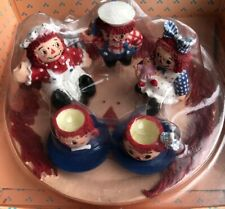 RAGGEDY ANN & ANDY TEA SET - Miniature, Resin, Ranger International Vintage 1994