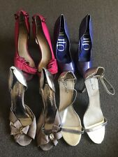 Bundle 4 X Pairs Heels size 10 $4 EXPRESS Shoes Womens Pink Purple Silver Formal