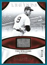 Ted Williams - 2017 Panini Immaculate Legends Jersey Relic #'d 3/10 - #IL-TW