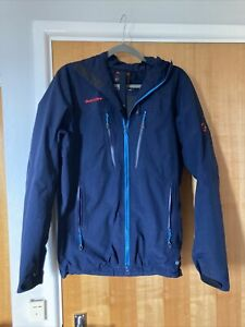 MAMMUT Gore-Tex Hooded Jacket. Navy Size Small