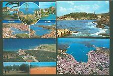 Postcard E15 Views Yugoslavia Veli Mali Losinj Otok Hvar (used 4 pcs)