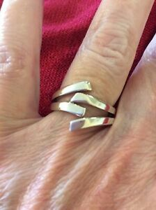 Ring  By Fossil   Size Q Sterling Silver 925  (104729V)