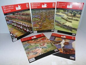 5-Early Issues - Historical Miniature Gamer Issue #2, 3, 4, 6 and 7 op