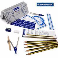Staedtler School Set - Maths Set in Gift Tin + 12 Noris Pencils - HB-2B-B-H-2H