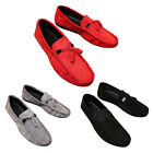 Tassel Suede Solid Slip-on Driving Shoes Men Round Toe Casual Flat Loafers Cheap