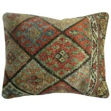 Pillow made from a Kurdish jaff bagface rug backed in