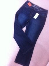 Next Jeans Size 12 R Crop Flare High Rise Dark Denim New
