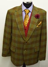 MS1197 Burton Uomo Brown & Olive Tweed Vintage Blazer Taglia 44R