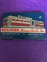 Rare Vintage Matchbook Harrison New Jersey Kullman Dining Car Co Middlesex St