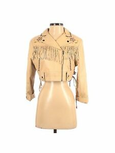 Double D Ranch Women Brown Leather Jacket S