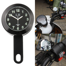 Universal Motorcycle Bike Handlebar Dial Clock Watch Bracket Mount Waterproof US