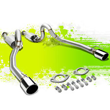 "FOR 96-04 MUSTANG V8 DUAL 4"" OVAL TIP POLISHED STAINLESS STEEL CATBACK EXHAUST"