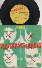 "THE 4 SKINS  Rare 1981 UK Only 7"" OOP Secret Punk P/C Single ""Yesterdays Heroes"""