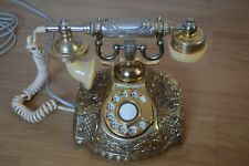 More details for vintage victorian style ornate brass rotary telephone