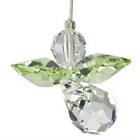 Austrian Crystal Guardian Angel Birthstone Suncatcher Peridot Aug WS CGPE