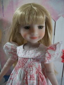 "14"" Ruby Red Fashion Friends ""Fairytale"" Smocked Dress Free Ship USA"
