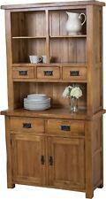 Cotswold Rustic Solid Oak Wood Small Welsh Dresser Cabinet Wall Unit Furniture