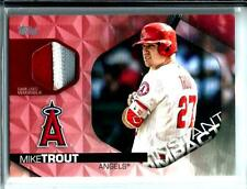 2018 Topps Series 2 Instant Impact 3-Color G.U.Jersey Mike Trout SSP D # 07/25