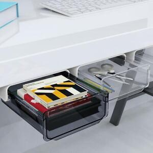 Under Desk Hidden Storage Drawer Pencil Stationery Organizer Self Adhesive